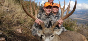 Travis Rigby winner of the NV Dream Elk Tag with his sons.